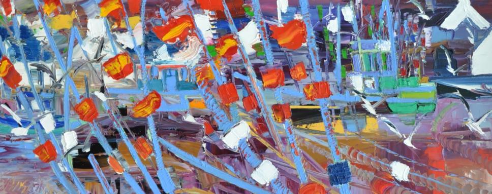 Tableau abstrait - Galerie d\'art Port En dro