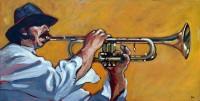 Trompette 83x41 cm