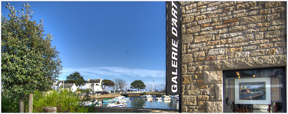 Vue sur Port En Dro de la galerie