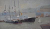 port de Brest en demi teintes 41 x 24